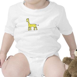 Giraffee amarillo traje de bebé