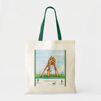 Giraffee, bolso de los recursos compartidos bolsas lienzo