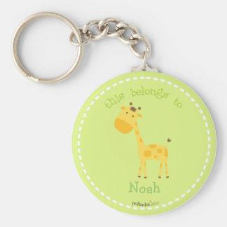 Giraffee Orange Keychain
