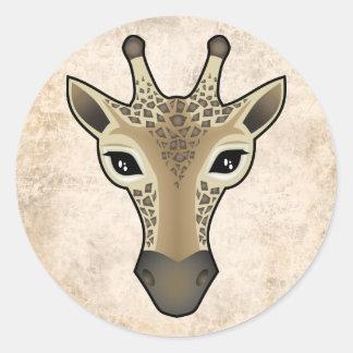 Giraffely Pegatina Redonda