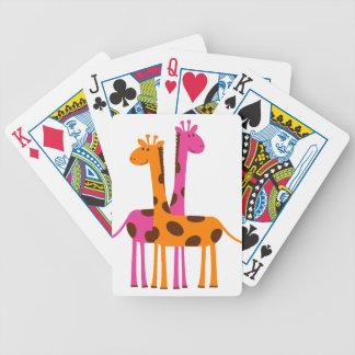 giraffes-297326  giraffes orange pink cartoon safa bicycle playing cards