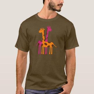 giraffes-297326  giraffes orange pink cartoon safa T-Shirt