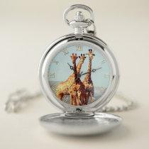 Giraffes 2A-2B & Numeral Options Pocket Watch