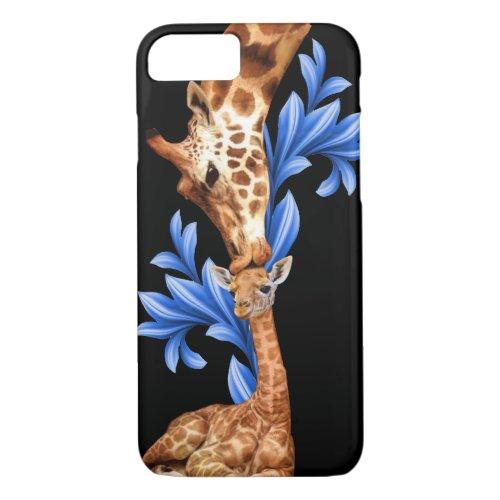 Giraffes- A Mother's love Phone Case