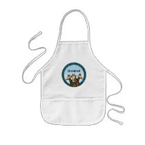 Giraffes and Laurel, Add Your Name Kids' Apron