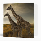 Giraffes and The Landscape 3 Ring Binder