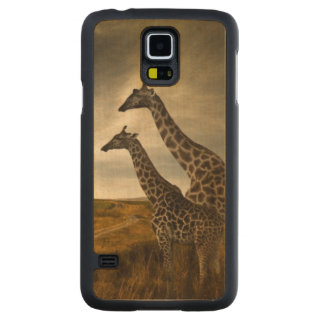 Giraffes and The Landscape Carved® Maple Galaxy S5 Slim Case