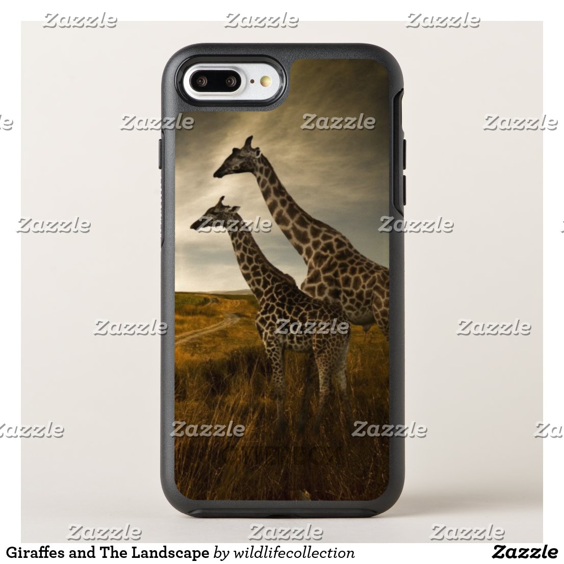 Giraffes and The Landscape OtterBox Symmetry iPhone 8 Plus/7 Plus Case