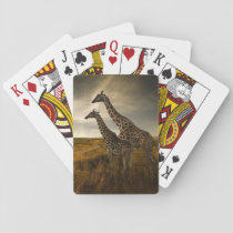 Giraffes and The Landscape Playing Cards