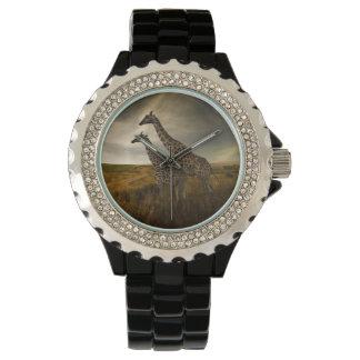 Giraffes and The Landscape Wrist Watch