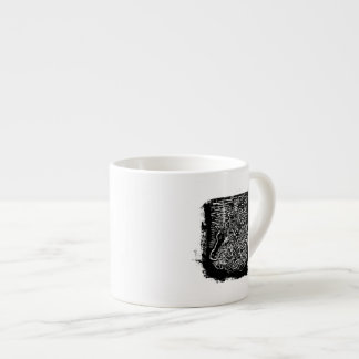 Giraffes and Tree Tops. Black and White Espresso Cup
