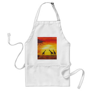 Giraffes At Sunset (Kimberly Turnbull Art) Adult Apron