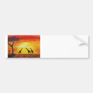 Giraffes At Sunset (Kimberly Turnbull Art) Bumper Sticker
