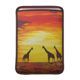 Giraffes At Sunset (Kimberly Turnbull Art) Sleeve For MacBook Air