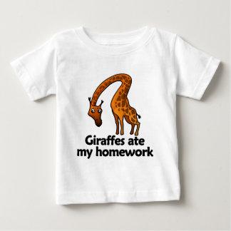 Giraffes ate my homework baby T-Shirt