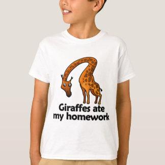 Giraffes ate my homework T-Shirt