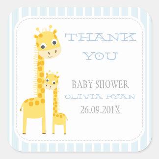 Giraffes Baby Shower Favor Sticker