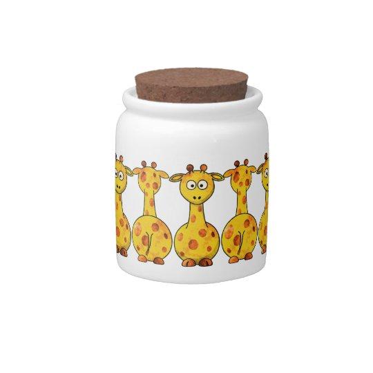 GIRAFFES Candy Jar