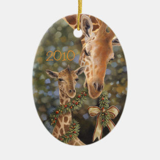 Giraffes Christmas Ornament
