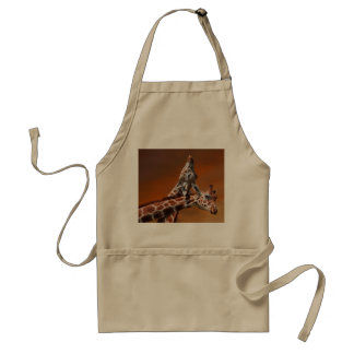 Giraffes couple in love adult apron