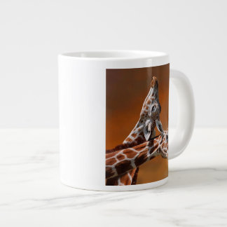 Giraffes couple in love giant coffee mug