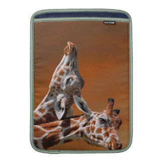 Giraffes couple in love MacBook air sleeve