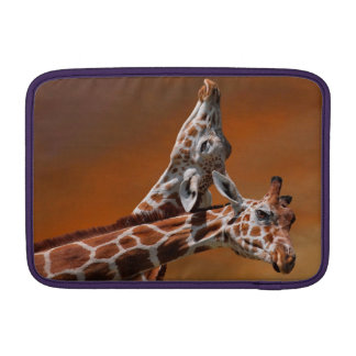 Giraffes couple in love sleeve for MacBook air