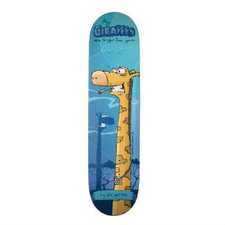 Giraffes custom skateboard. My giraffes are big... Skateboard