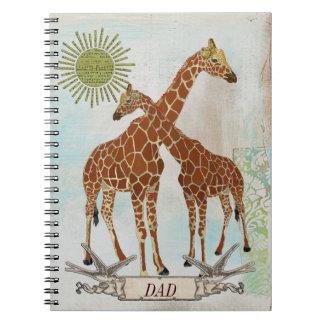 Giraffes Dad Notebook