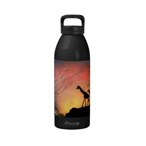 Giraffes Drinking Bottle