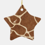 Giraffes! exotic animal print design! ceramic ornament