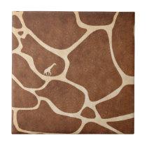 Giraffes! exotic animal print design! tile