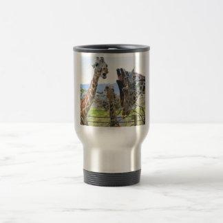 Giraffes Gossiping Travel Mug