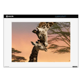 "Giraffes Greeting Each Other 15"" Laptop Skins"
