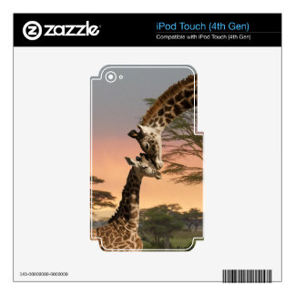 Giraffes Greeting Each Other Skin For iPod Touch 4G
