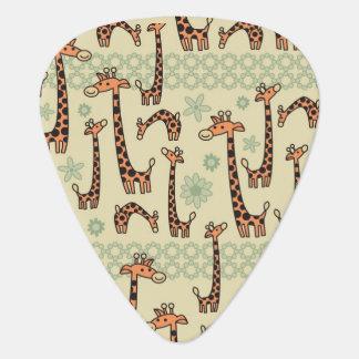 Giraffes Guitar Pick