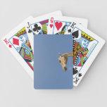 Giraffe's head bicycle playing cards