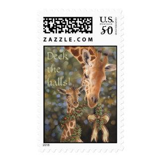 Giraffes Holiday Stamp