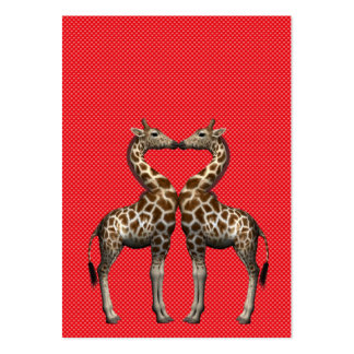 Giraffes In Love Large Business Cards (Pack Of 100)