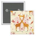 Giraffes in Love Button