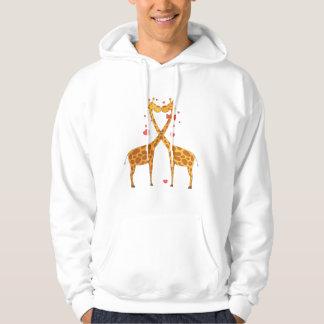 Giraffes in Love Hoodie