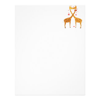 Giraffes in Love Letterhead