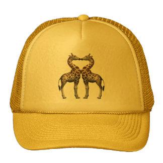 Giraffes In Love Mesh Hats