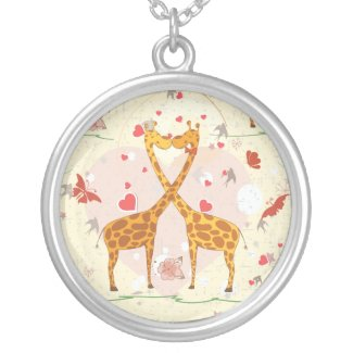 Giraffes in Love Necklace