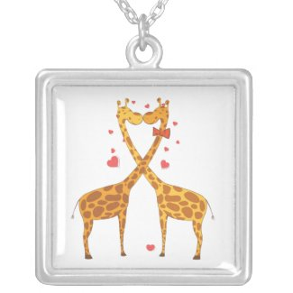 Giraffes in Love Pendant