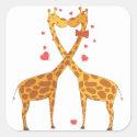 Giraffes in Love Sticker