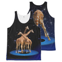 GIRAFFES IN SPACE All-Over-Print TANK TOP