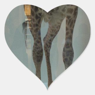 Giraffe's legs (the lions' share?...) heart sticker