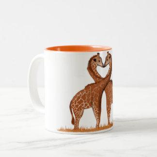 Giraffes Love Heart Mugs