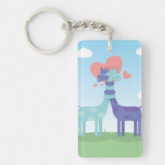 Giraffes Love Keychain